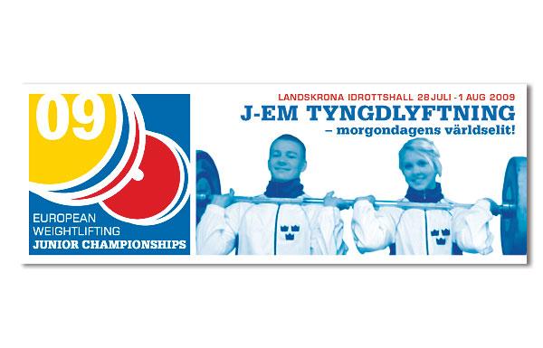 Affisch Junior-EM Tyngdlyftning