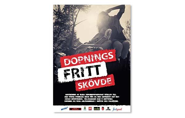 Affisch Dopningsfritt Skövde